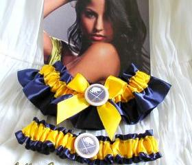 Buffalo Sabres Garter, wedding garter set, bridal garters