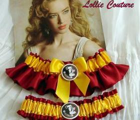 FSU - Wedding Garter set -bridal garters