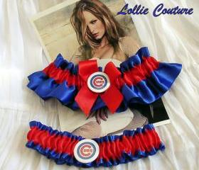 Cubs Garter - Chicago Cubs - Wedding garter set