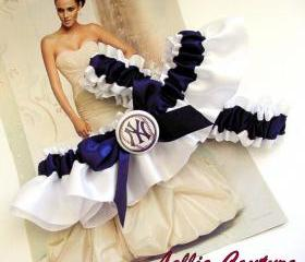 Yankees Garter, Wedding Garters, Bridal Garters, Garters