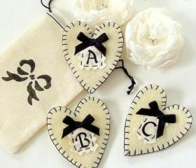 Felt Brooch Monogrammed letter brooch bridesmaids brooches