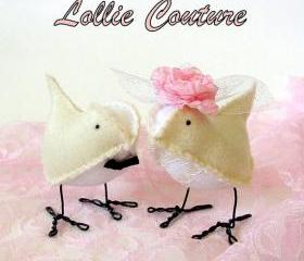 Cake Topper - Wedding Birds Cake Topper - Create a set for your wedding