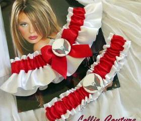Capitals Garter - wedding garter set - Washington Capitals