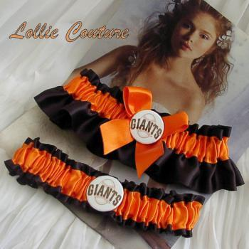 SF Giants garter - Wedding Garter Set