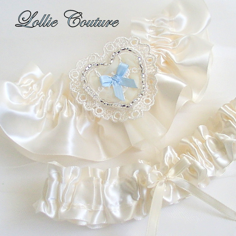 Wedding garters bridal garters garter sets on luulla for Garter under wedding dress